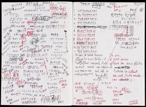Draft of Alphabets, George Perec