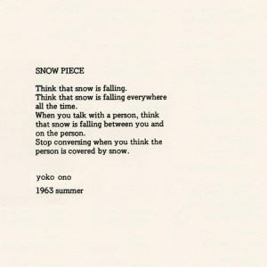 Yoko Ono, Snow Piece